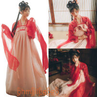 Women's Dress Ancient Costume 2 Pcs Tops Skirt Dress Hanfu Chinese Cosplay Dress