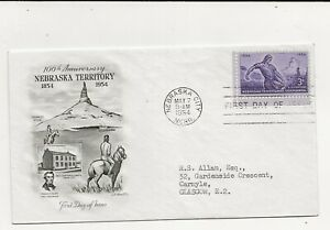 United States Comm/FDC - 100th Ann of Nebraska Territory - 1954 (085)