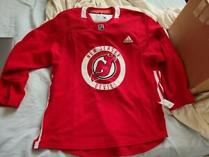 New Jersey Devils Authentic Practice jersey sz 56 MIC Made in Canada Adidas NWT
