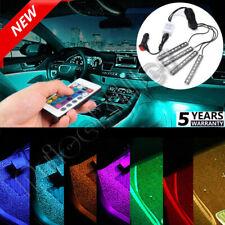 Color Interior Bar Glow Dash Footwell Light 5050 RGB LED Strip SMD Lamp HOT US