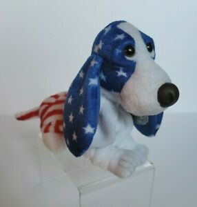 Applause Hush Puppies Dog Plush Proud To Be An American Basset Hound Patriotic