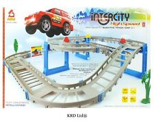 Kids interurbano HIGH SPEED auto elettrica ponte pista PLAY SET TOY BOX