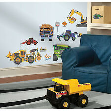 **RoomMates Wandtattoos Kran Bagger Bau Baustelle Baufahrzeuge Bau Autos Laster