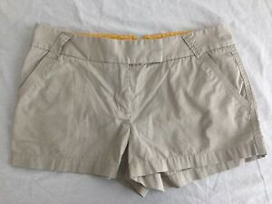 J.CREW Weathered & Broken-In Classic Twill Chino Shorts Tan Cotton Sz 8 NWOT!