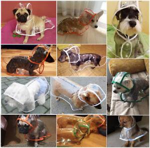 Transparent Pet Rain Coat for Dogs Pet Jacket Casual EVC Waterproof Dog Clothes