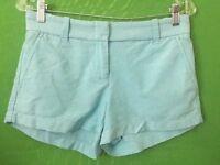 "7416) J CREW sz 2 powder blue chino shorts 100% cotton 3"" inseam 2"