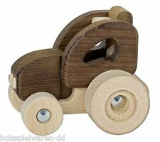 goki nature 55911 small tractor from natural wood 2 Years suitable new! #