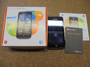 Motorola Atrix hd smart cell phone with box & set up instructions, works great