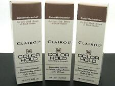 3 each Bottles LOT Clairol COLOR HOLD Refresher VERY DARK BROWN & BLACK SHADES