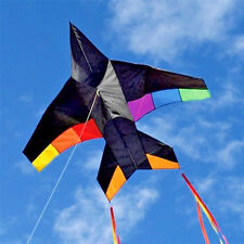 "Delta Kids Kite Airplane Jet + RipStop Nylon + 49"" x 46"" + Tails + Line + Bag"