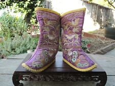 Antique Tibet Handmade Embroidered  Children's Shoes