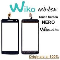 Touch Screen Display Vetro Vetrino per Wiko Rainbow Nero Originale