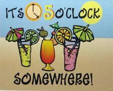 """Es 5 O 'Clock Somewhere-acero signo de 8 X 6"""" - interna o externa"""