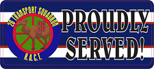 26 TRANSPORT SQUADRON PROUDLY SERVED STICKER 80X180MM LAMINATED VINYL RACT A1
