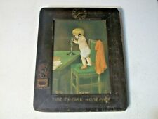 Hello Papa Print in Folk Art ARTS & CRAFTS Frame Time 1905 Ullman Mfg Co
