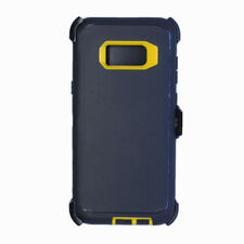For Samsung Galaxy S8 Defender Case+Screen Glass&Clip fits Otterbox Black Yellow