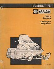 1976 SKI-DOO EVEREST SNOWMOBILE PARTS MANUAL 480 1045 00 (584)
