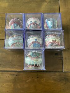 Lot Of 7 Retired Unforgettaball baseball MLB Cubs Braves Cardinals Angels More.