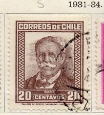 Chile 1931-34 Early Issue Fine Used 20c. 089756