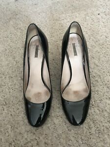 Miu Miu black patent leather heels Court shoes size 6Uk / 40 Euro