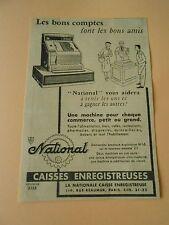 Pub Caisses Enregistreuses National Advert Print 1954