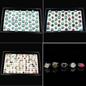 wholesale women's Turquoise antique silver plated stone fashion Jewellery Rings
