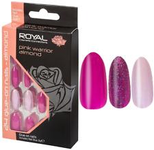 ROYAL Cosmetics 24 False Nails with Glue - CHOOSE - NEW   **Multibuy Savings**