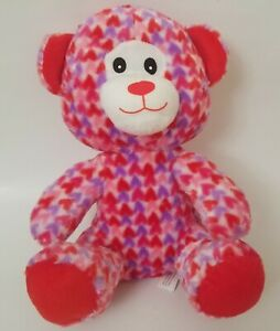 Colorful Love Heart Multicolored Bear Soft Plush Toy