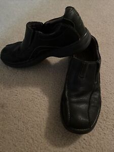 Clarks Pickett Loafer Mens 8.5 M Black Leather Goring Slip On Casual Shoes 82293
