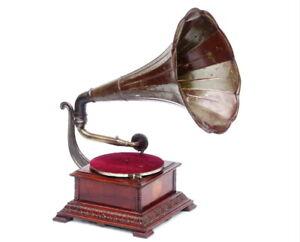 ANTIQUE CIRCA 1910 ORIGINAL PATHE PATHEPHONE NO.4 GRAMOPHONE PHONOGRAPH MUSIC