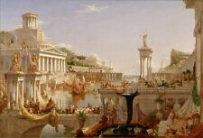 Classical Prints Oil Painting thomas cole the course of empire the-consummation