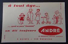 Buvard chaussure André A tout age Blotter Löscher trotinette tricot