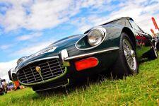 E-Type Jaguar Classic Sports Motor Car Auto Vehicle Photograph Picture Print
