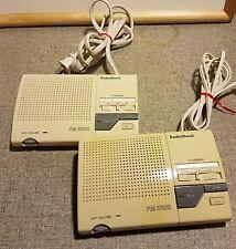 Pair (2) RadioShack 43-490 3-Channel Wireless Intercom