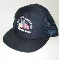 Vintage Trucker Hat I Support Desert Storm Snapback Navy Blue