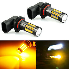JDM ASTAR 2x H10 9145 Amber High Power LED 1600lm Super Bright Fog Lights Bulbs
