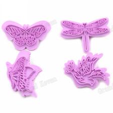4PCS Plastic Butterfly Cookie Cutter Dragonfly Bird Fondant Cutter DIY Decor