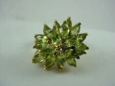 ROSS SIMONS Sterling Silver Peridot Cocktail Ring Size 8.75