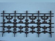 4 Panel Ornate Plastic Railing, Dolls House Miniatures Fixture Fittings
