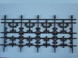 4-Panel Ornate Plastic Railing, Dolls House Miniatures Fixture Fittings