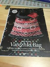 Varezhki Bag Knitting Pattern - Felted, Inspired By Traditional Russian Mittens