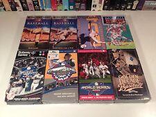 Baseball Lot of 8 VHS Video History Documentary World Series Bloopers Ken Burns