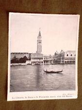 Venezia nel 1920 Libreria, Zecca e Procuratie nuove viste dal Bacino