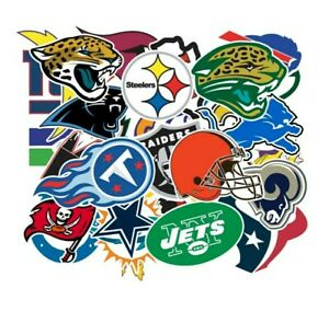 Lot of 5 NFL Logo Football Decal Stickers Free shipping