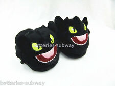 New How to Train Your Dragon Costume Night Fury Toothless Plush Slippers Shoes