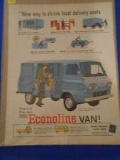Vintage Original Automobile Advertisement Ad 13 x 10 Ford Econoline Van