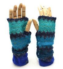 Winter Apt.9 Women Purple Teal Blue Forearm Warmer Glove Soft Shiny 1 size 8729