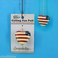 Ceiling Fan Accessory Pull - Hand Painted Epoxy Resin Country Heart # 60868