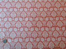 Tilda Fruit Garden Babette Peach Fleur de Lis Cotton Quilting Fabric 50cm x 45cm