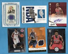 JOHN CALIPARI RELIC ANTHONY DAVIS & MKG JERSEY NERLENS NOEL BK RC TEAGUE AUTO UK